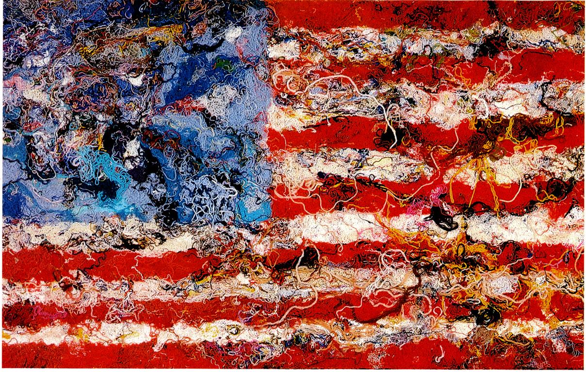 FLAG : BANDIERA AMERICANA COMPOSTA DA VENATURE DI COLORE