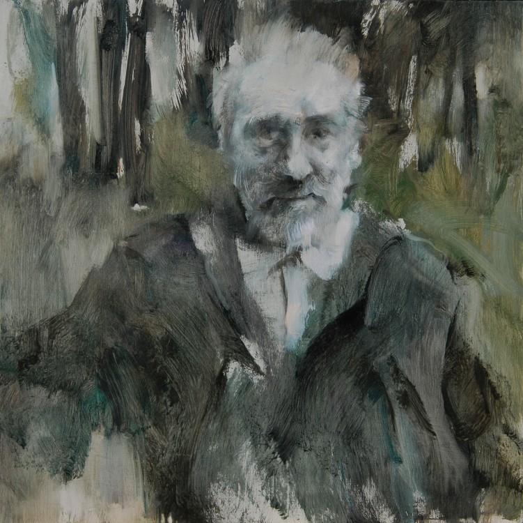 MARIO RIGONI STERN,1996,OLIO SU TAVOLA,50X50