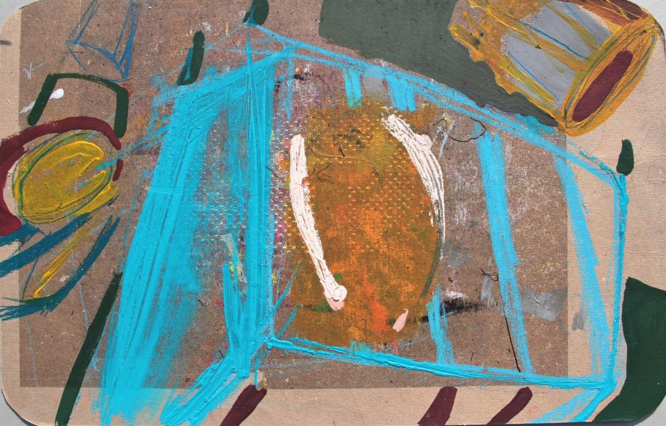 2009  'Cassa di canditi'  cm 40x60 Acrilico su cartone