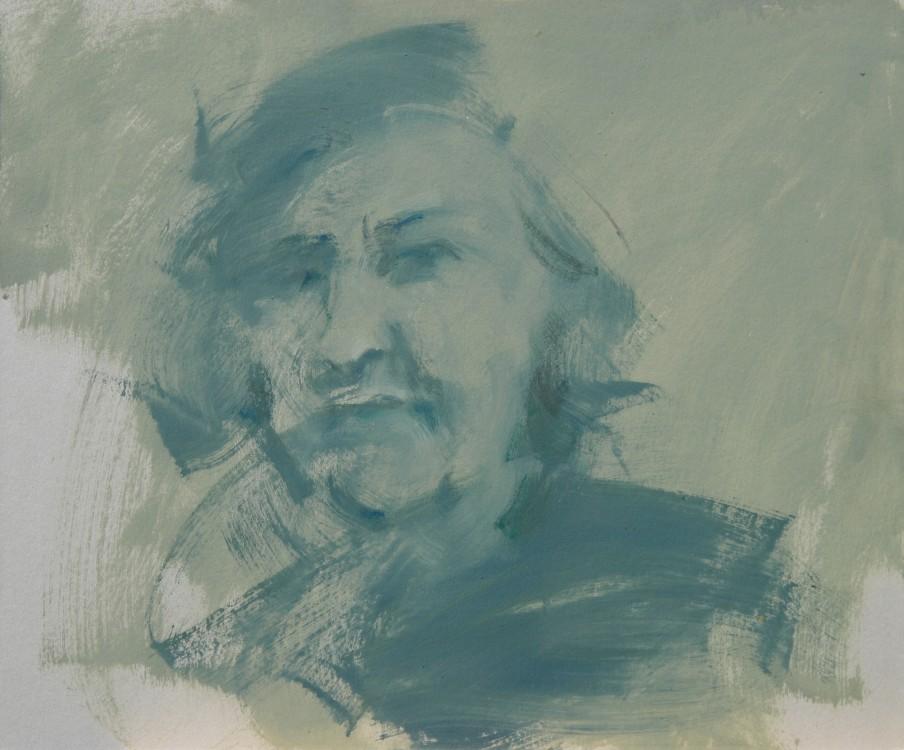 ALDA MERINI,2008,OLIO SU CARTONE,50X60