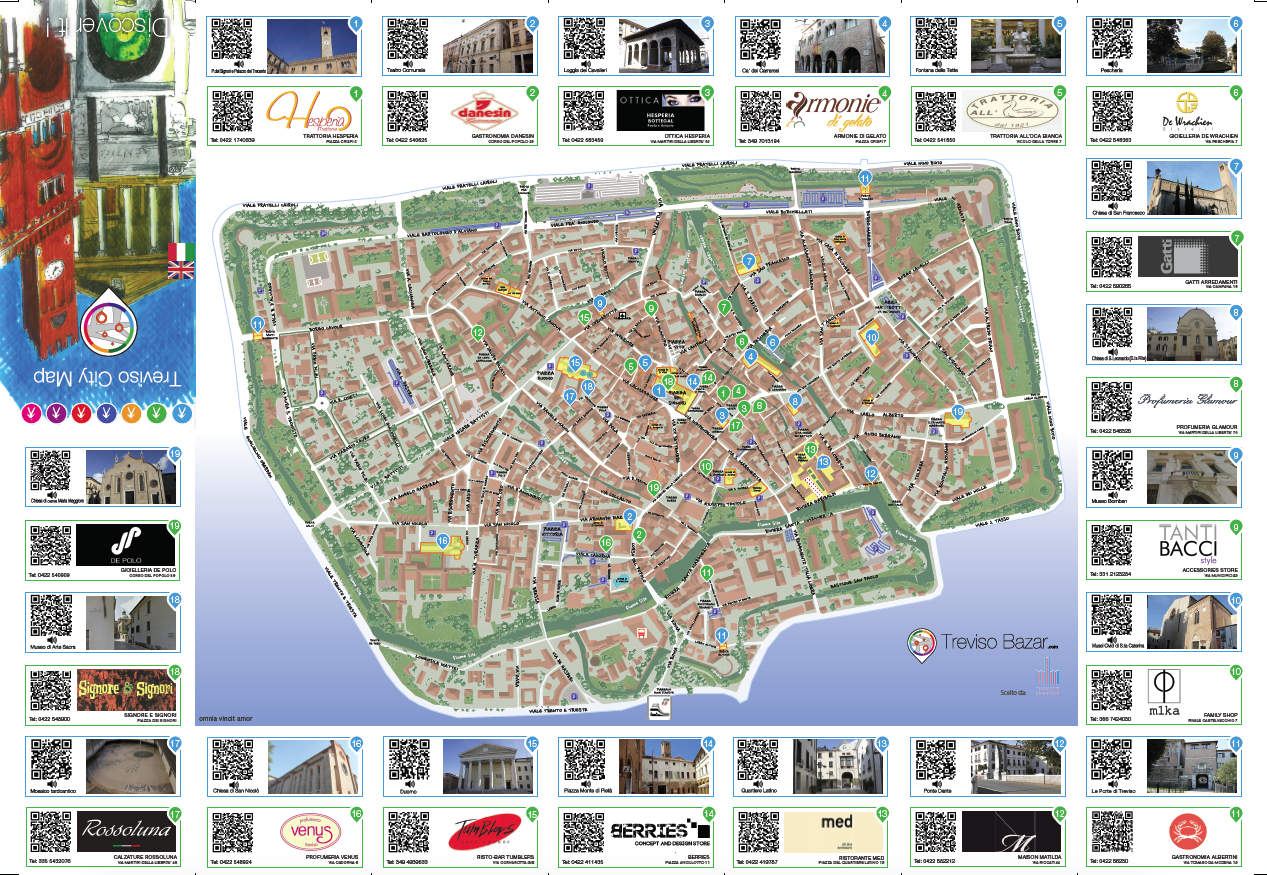 Treviso city map 2015 fronte