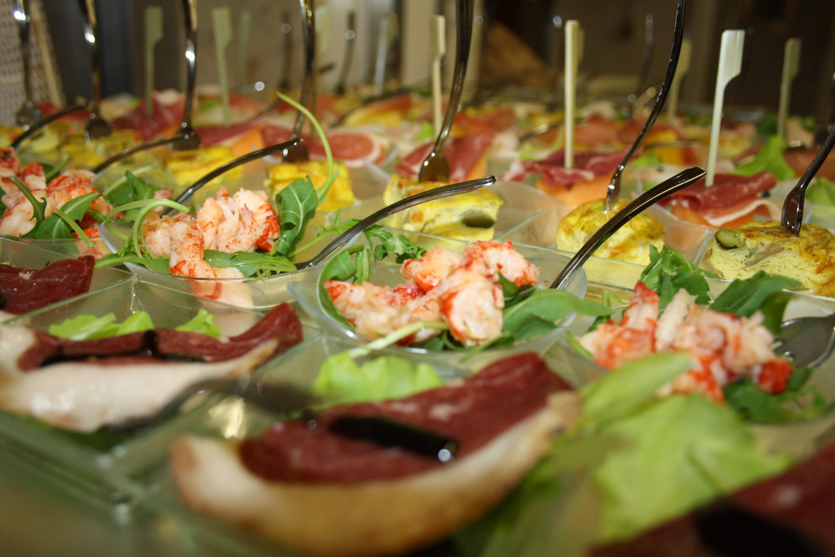 buffet in finger food